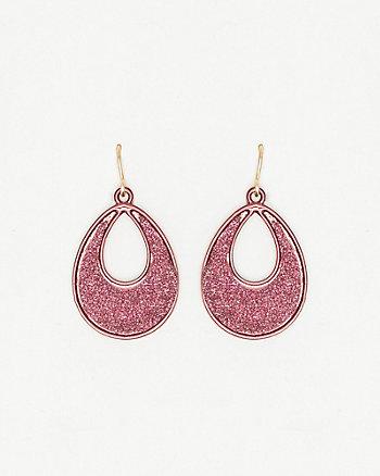 Glitter Open Teardrop Earrings