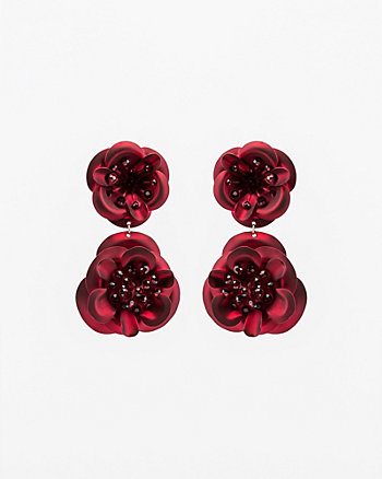 Gem Encrusted Floral Drop Earrings