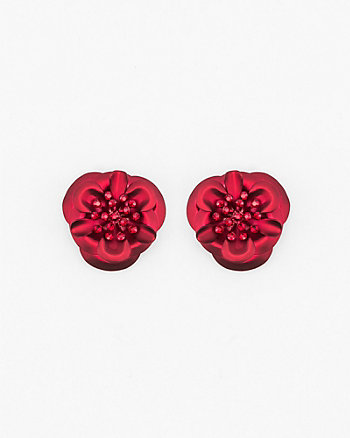 Gem Encrusted Floral Stud Earrings