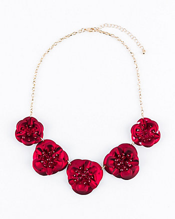 Gem Encrusted Floral Collarbone Necklace