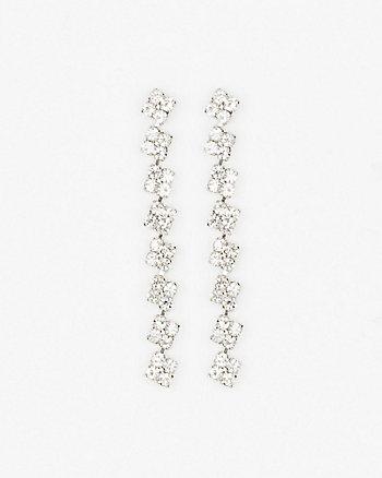 Gem Linear-Drop Earrings