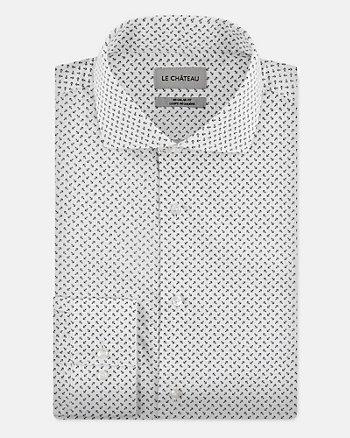 Chemise à motif d'ancres en coton
