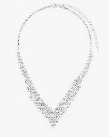 Gem Collarbone Necklace