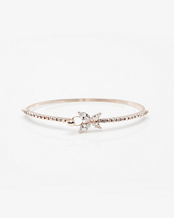 Butterfly Gem Bangle Bracelet