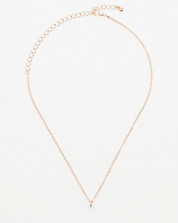 Gem Pendant Collarbone Necklace