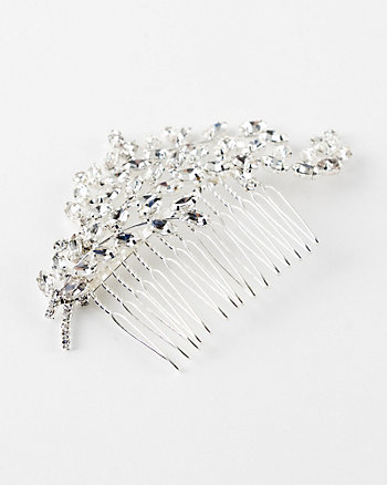 Gem Encrusted Leaf Hair Comb