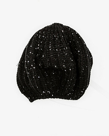 Sequin & Knit Beret