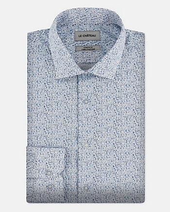 Abstract Print Cotton Poplin Shirt
