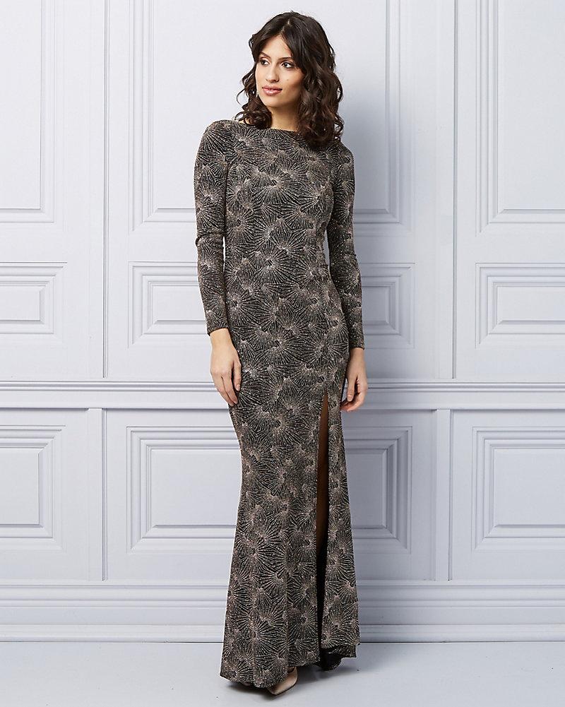 017a6814 Sparkle Knit V-Back Gown | LE CHÂTEAU