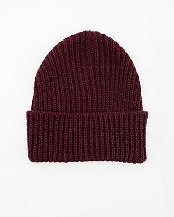 Bonnet en tricot à côtes