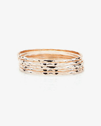 Set of Five Zigzag Etched Bangle Bracelets