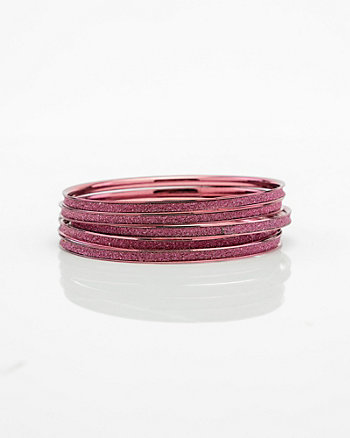 Set of Glitter Bangle Bracelets