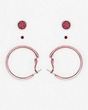 Set of Gem & Glitter Earrings