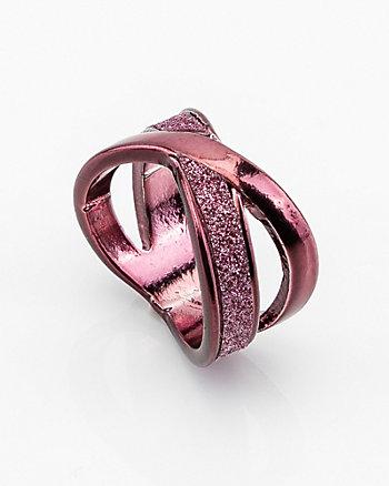 Glitter Criss-Cross Ring