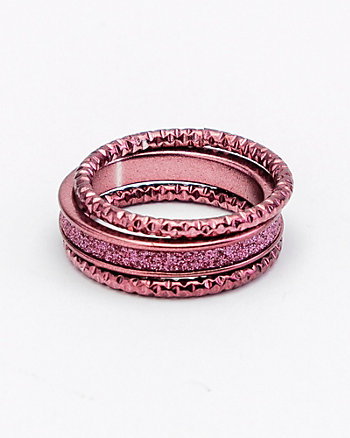 Set of 3 Glitter Rings