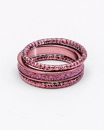 Set of 3 Glitter Rings