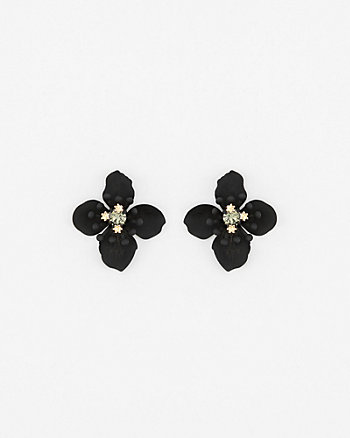 Flower Gem Stud Earrings