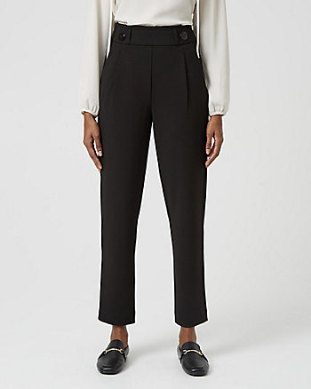 Knit Crêpe Slim Leg Trouser