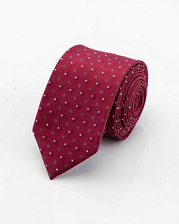 Metallic Dot Print Skinny Tie
