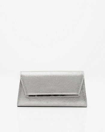 Faux Suede Envelope Clutch