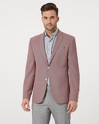Tonal Geo Print Contemporary Fit Blazer