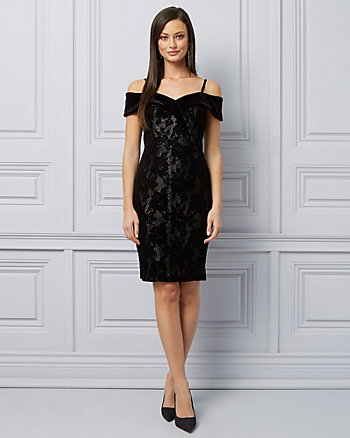 Lace Off-The-Shoulder Sheath Dress