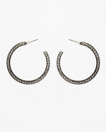 40mm Jewel Embellished Hoop Earrings