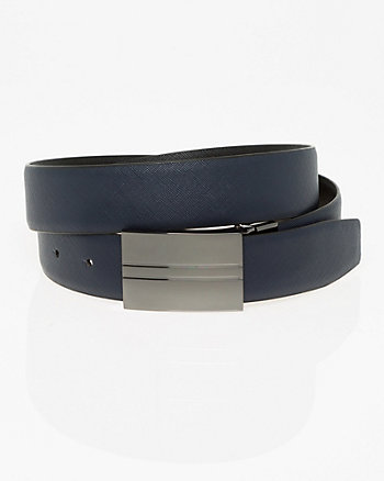 Faux Leather Reversible Belt