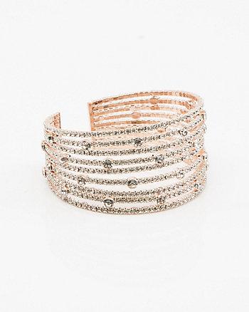 Bracelet-manchette orné de pierres