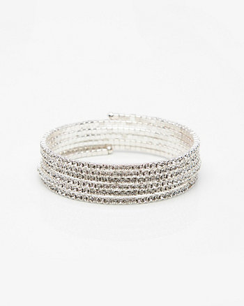 Bracelet spirale orné de pierres