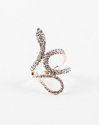 Gem Encrusted Snake Ring