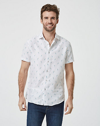 Parrot Print Athletic Fit Shirt