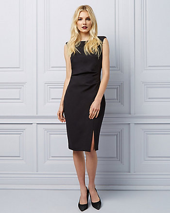 80592c0d6e Bi-Stretch Twill Cocktail Dress ...