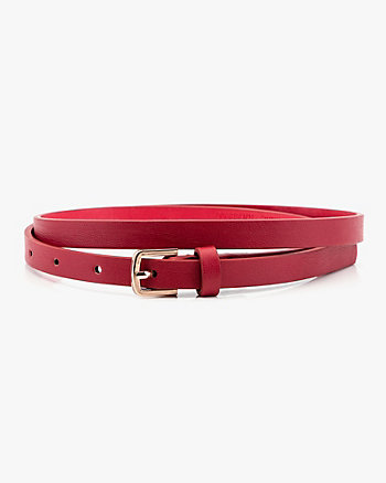 Skinny Leather-Like Belt