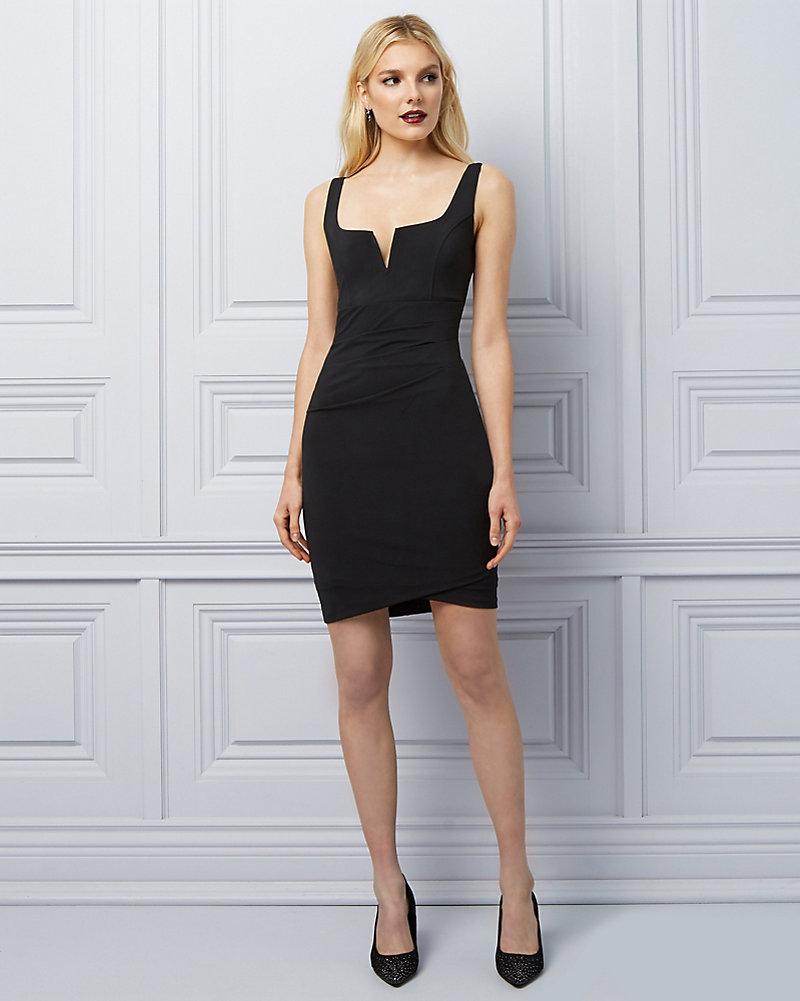 b7be721df4a Knit Pleated Mini Dress