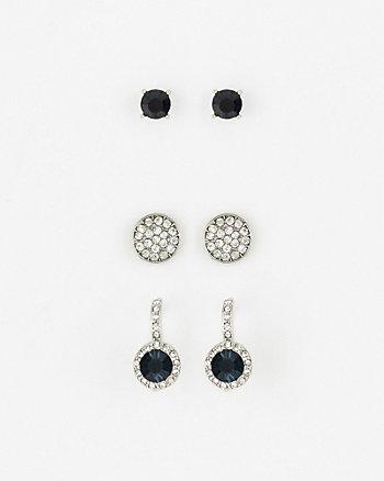 Set of Gem Earrings
