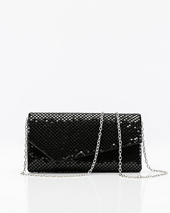 Chain Mesh Flapover Clutch