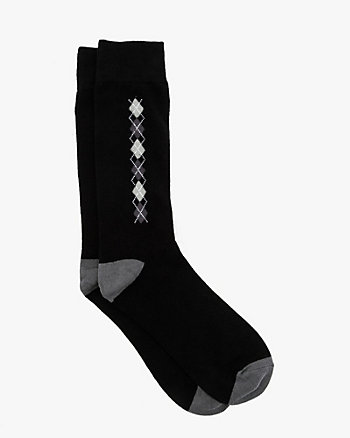Argyle Cotton Blend Socks