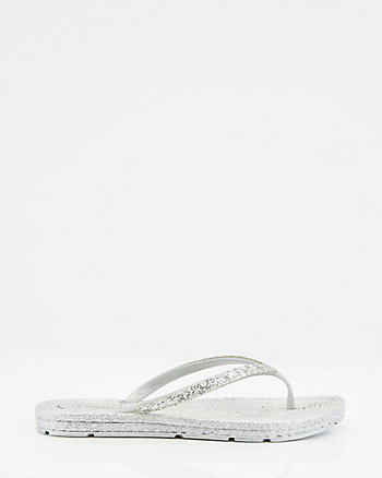 Jewel Embellished Jelly Flip Flop