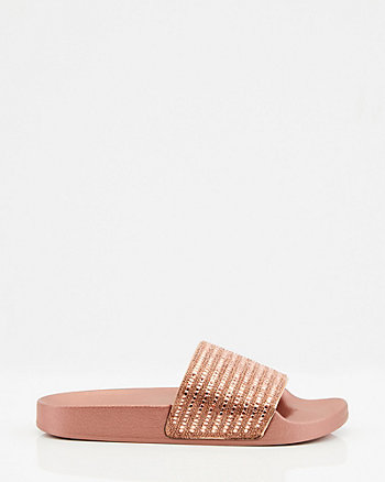Jewel Embellished Jelly Slide Sandal