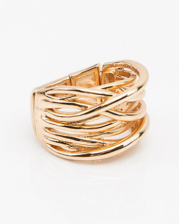 Wide Criss-Cross Ring