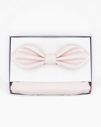 Oval Bow Tie & Pocket Square Set