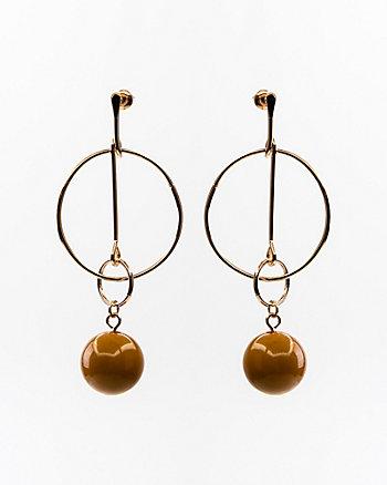 Circle & Ball Earrings
