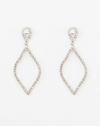 Pearl-Like Embellished Drop Earrings