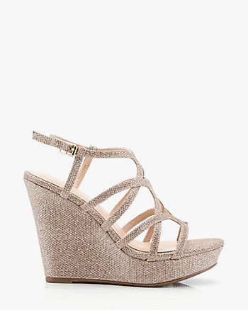 Open Toe Strappy Wedge Sandal