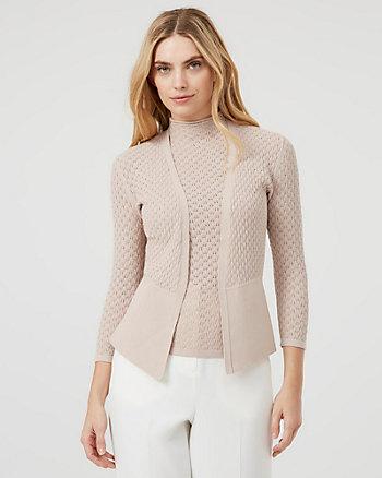 Cardigan ouvert en tricot