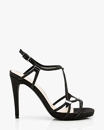 Jewel Embellished Satin Strappy Sandal