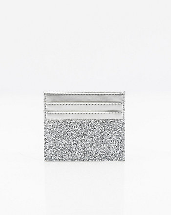 Glitter Leather-Like Card Holder