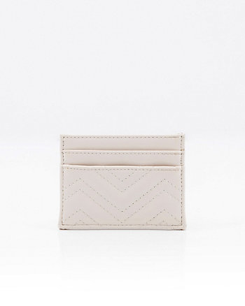 Quilted Faux Leather Card Holder