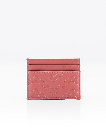 Quilted Leather-Like Card Holder